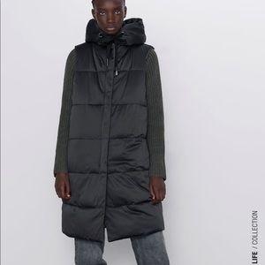 Zara reversible padded vest